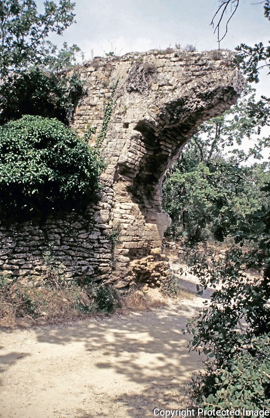 Ruins of of Pont du Gard aqueduct, Nimes, France, Early 1st c. CE