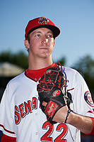 Harrisburg Senators pitcher Erick Fedde (22) poses for a photo before a game against the Bowie Baysox on May 16, 2017 at FNB Field in Harrisburg, Pennsylvania.  Bowie defeated Harrisburg 6-4.  (Mike Janes/Four Seam Images)