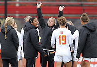COLLEGE PARK, MD - OCTOBER 28, 2012:  Becky Kaplan (19) of the University of Maryland and other players celebrate their victory over Miami during an ACC  women's tournament 1st. round match at Ludwig Field in College Park, MD. on October 28. Maryland won 2-1 on a golden goal in extra time.