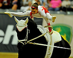 8 October 2010: Lisa Wild (AUT) performs during the Vaulting Techincals in the World Equestrian Games in Lexington, Kentucky