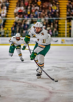 9 February 2019: University of Vermont Catamount Forward Conor O'Neil, a Senior from Hummelstown, PA, in second period action against the University of New Hampshire Wildcats at Gutterson Fieldhouse in Burlington, Vermont. The Catamounts defeated the Wildcats 4-1 to split their 2-game Hockey East weekend series. Mandatory Credit: Ed Wolfstein Photo *** RAW (NEF) Image File Available ***