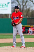 Peoria Chiefs pitcher Dailyn Martinez (4) on the mound during a Midwest League game against the Beloit Snappers on April 15, 2017 at Pohlman Field in Beloit, Wisconsin.  Beloit defeated Peoria 12-0. (Brad Krause/Four Seam Images)