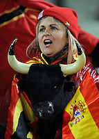 A Spain fan. USA defeated Spain 2-0 during the semi-finals of the FIFA Confederations Cup at Free State Stadium in Manguang/Bloemfontein, South Africa on June 24, 2009..