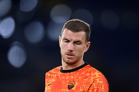 Edin Dzeko of AS Roma warms up during the Europa League Group Stage A football match between AS Roma and CSKA Sofia at stadio olimpico in Roma (Italy), October, 29th, 2020. Photo Andrea Staccioli / Insidefoto