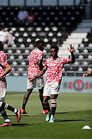 18th July 2021; Pride Park, Derby, East Midlands; Pre Season Friendly Football, Derby County versus Manchester United;  Anthony Elanga of Manchester United during warm up