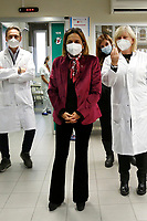 The Rector of Sapienza University Antonella Polimeni poses for photographers during the first day of Covid-19 vaccine campaign at the Policlinico Umberto I. After the yesterday demonstration vaccines, today 9500 vaccines were distributed in the Italian hospitals. The first people to receive the Pfizer-Biontech Covid vaccine are nurses, doctors, and hospital staff.<br /> Rome(Italy), December 28th 2020<br /> Photo Samantha Zucchi/Insidefoto