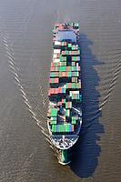 Ever Conquest: EUROPA, DEUTSCHLAND, HAMBURG, (EUROPE, GERMANY), 16.04.2009: Container,  Hamburger Hafen, Elbe, Schiff, Seeschiff, Containerschiff, Logistik, Transport, Wirtschaft, Boom, Conti Reederei, Evergreen,  Baujahr 2006, 8100 teu, Luftbild, Luftansicht, Luftaufnahme, Aufwind-Luftbilder<br />c o p y r i g h t : A U F W I N D - L U F T B I L D E R . de<br />G e r t r u d - B a e u m e r - S t i e g 1 0 2, <br />2 1 0 3 5 H a m b u r g , G e r m a n y<br />P h o n e + 4 9 (0) 1 7 1 - 6 8 6 6 0 6 9 <br />E m a i l H w e i 1 @ a o l . c o m<br />w w w . a u f w i n d - l u f t b i l d e r . d e<br />K o n t o : P o s t b a n k H a m b u r g <br />B l z : 2 0 0 1 0 0 2 0 <br />K o n t o : 5 8 3 6 5 7 2 0 9 V e r o e f f e n t l i c h u n g  n u r  m i t  H o n o r a r  n a c h M F M, N a m e n s n e n n u n g  u n d B e l e g e x e m p l a r !