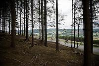 Descending the Rosier (556m)<br /> <br /> stage 4: Hotel Verviers - La Gileppe (187km)<br /> 29th Ster ZLM Tour 2015