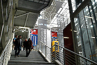 - University of Milan - Bovisa, department of Design, the entrance hall with the portraits of the greatest Italian designers....- Università di Milano - Bovisa, facoltà di Design, l'atrio con i ritratti dei grandi designers italiani