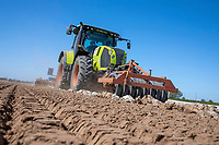 Cultivating for potato planting - Lincolnshire, April