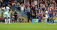 Pictured: Swansea manager Garry Monk (C)<br />