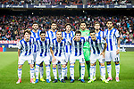 Players of Real Sociedad line up and pose for a photo prior to the La Liga match between Atletico de Madrid vs Real Sociedad at the Vicente Calderon Stadium on 04 April 2017 in Madrid, Spain. Photo by Diego Gonzalez Souto / Power Sport Images