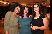SARRA HANNACHI, DIRECTOR RAJA AMARI AND HIAM ABBASS - 41ST TORONTO INTERNATIONAL FILM FESTIVAL 2016 . 15/09/2016. # FESTIVAL INTERNATIONAL DU FILM DE TORONTO 2016