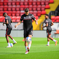 Lincoln City's Lewis Montsma during the pre-match warm-up<br /> <br /> Photographer Chris Vaughan/CameraSport<br /> <br /> The EFL Sky Bet League One - Saturday 12th September 2020 - Lincoln City v Oxford United - LNER Stadium - Lincoln<br /> <br /> World Copyright © 2020 CameraSport. All rights reserved. 43 Linden Ave. Countesthorpe. Leicester. England. LE8 5PG - Tel: +44 (0) 116 277 4147 - admin@camerasport.com - www.camerasport.com - Lincoln City v Oxford United
