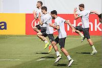Shkodran Mustafi, Julian Weigl, Emre Can beim Training - Training der Deutschen Nationalmannschaft zur EM Vorbereitung in Ascona, Schweiz