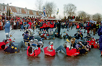 SCHAATSEN: FRANEKER: FRIESE ELFSTEDENTOCHT: zaterdag 4 januari 1997, vijftiende Elfstedentocht, ©foto Martin de Jong