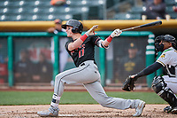 Drew Weeks (11) of the Albuquerque Isotopes bats against the Salt Lake Bees at Smith's Ballpark on April 8, 2018 in Salt Lake City, Utah. Albuquerque defeated Salt Lake 11-4. (Stephen Smith/Four Seam Images)
