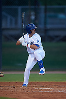 AZL Dodgers Mota Omar Estevez (79) at bat during a rehab assignment in an Arizona League game against the AZL Giants Orange on June 29, 2019 at Camelback Ranch in Glendale, Arizona. The AZL Giants Orange defeated the AZL Dodgers Mota 9-3. (Zachary Lucy/Four Seam Images)