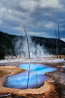 Opalescent Pool in Black Sand Basin. Yellowstone National Park, Wyoming