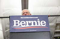 Democratic presidential candidate and Vermont senator Bernie Sanders speaks at a campaign event at Hampshire Hills Athletic Club in Milford, New Hampshire, on Tue., Feb. 4, 2020. The  event started around 7pm and was the first event Sanders held after the previous day's Iowa Caucuses. The results of the caucuses were unknown until the Democratic party released partial numbers at 5pm, showing Sanders and former South Bend, Ind., mayor Pete Buttigieg both as frontrunners.