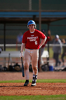 Cory Filley (6) bats during the Perfect Game National Underclass East Showcase on January 23, 2021 at Baseball City in St. Petersburg, Florida.  (Mike Janes/Four Seam Images)