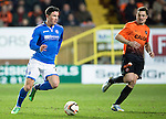 Dundee United v St Johnstone...12.03.14    SPFL<br /> Michael O'Halloran is closed down by Paul Paton<br /> Picture by Graeme Hart.<br /> Copyright Perthshire Picture Agency<br /> Tel: 01738 623350  Mobile: 07990 594431