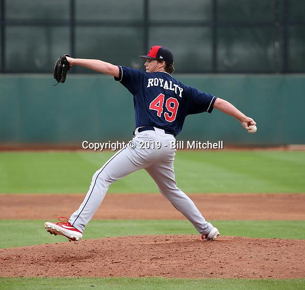 Alex Royalty - Cleveland Indians 2019 spring training (Bill Mitchell)