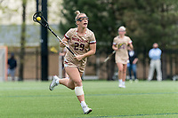 NEWTON, MA - MAY 14: Phoebe Day #29 of Boston College brings the ball forward during NCAA Division I Women's Lacrosse Tournament first round game between Fairfield University and Boston College at Newton Campus Lacrosse Field on May 14, 2021 in Newton, Massachusetts.