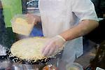 Chef Preparing Crepe, Le Comptoir Restaurant, Paris, France, Europe