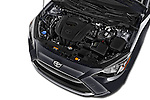 Car Stock 2018 Toyota Yaris-iA AT 4 Door Sedan Engine  high angle detail view