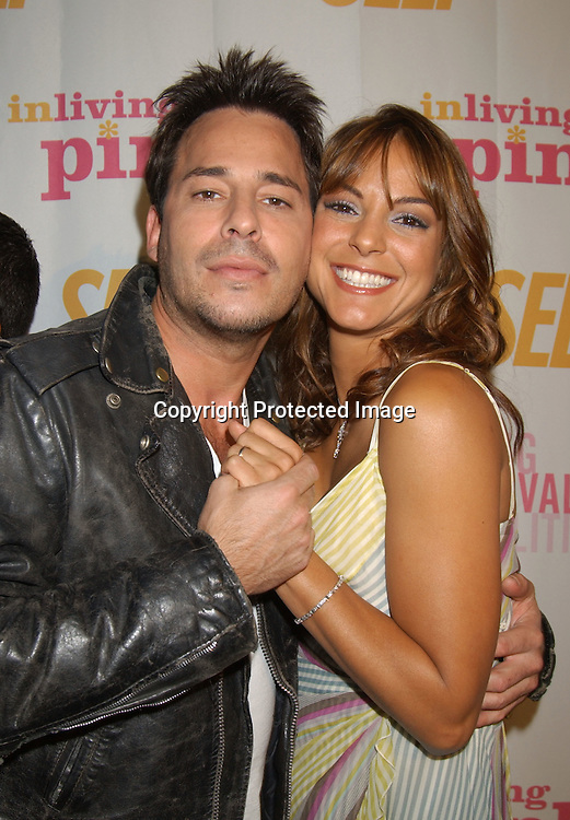 ..Eva LaRue and Ricky Paull Goldin..at the Self Magazine party for the Young Survival Coalition's 5th Anniversary  on October 9, 2003 at ..Angel Orensanz Foundation...Photo By Robin Platzer, Twin Images
