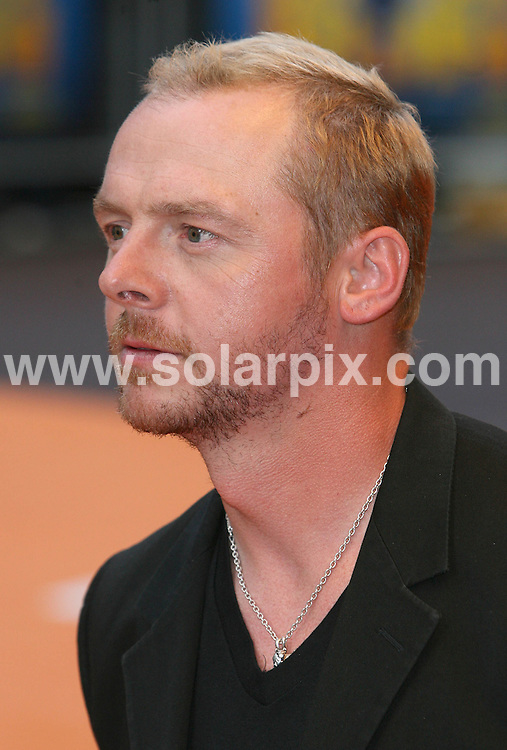 **ALL ROUND PICTURES FROM SOLARPIX.COM**.**WORLDWIDE SYNDICATION RIGHTS**.Guests arrive to attend the premiere of the film 'Run Fat Boy Run', at the Odeon, Leicester Square, West End, London. Monday 3rd September 2007..This pic: Simon Pegg..JOB REF: 4615 SSD     DATE: 03_09_2007.**MUST CREDIT SOLARPIX.COM OR DOUBLE FEE WILL BE CHARGED* *UNDER NO CIRCUMSTANCES IS THIS IMAGE TO BE REPRODUCED FOR ANY ONLINE EDITION WITHOUT PRIOR PERMISSION*