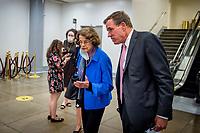 Democrat Senators meet regarding United States Senate Minority Leader Mitch McConnell (Republican of