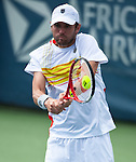 Mardy Fish of the US during his semifinal match at the Citi Open in Washington, DC on August 4, 2012.