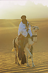 Touareg on the dawn light in the The Tassili of Maghidet