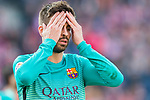 Gerard Pique Bernabeu of FC Barcelona reacts during their La Liga match between Atletico de Madrid and FC Barcelona at the Santiago Bernabeu Stadium on 26 February 2017 in Madrid, Spain. Photo by Diego Gonzalez Souto / Power Sport Images
