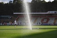 Water sprinklers during Stevenage vs MK Dons, EFL Trophy Football at the Lamex Stadium on 6th October 2020