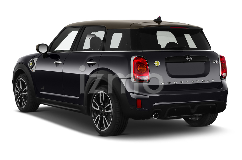 Car pictures of rear three quarter view of 2020 MINI Countryman Cooper-SE-JCW 5 Door SUV Angular Rear