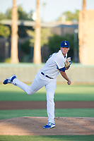AZL Dodgers starting pitcher James Marinan (29) follows through on a pitch during a game against the AZL Brewers at Camelback Ranch on July 25, 2017 in Glendale, Arizona.  The AZL Dodgers defeated the AZL Brewers 8-3.  (Zachary Lucy/Four Seam Images)