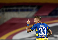 Parma's Juraj Kucka celebrates after scoring on a penalty kick during the Italian Serie A football match between Roma and Parma at Rome's Olympic stadium, July 8, 2020.<br /> UPDATE IMAGES PRESS/Isabella Bonotto