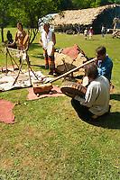 Lors du Festival René Castanet à Castel-Merle