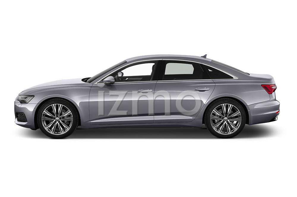 Car driver side profile view of a 2019 Audi A6 Design 4 Door Sedan