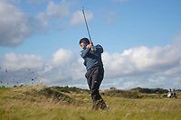 1st October 2021; Kingsbarns Golf Links, Fife, Scotland; European Tour, Alfred Dunhill Links Championship, Second round; Guido Migliozzi of Italy plays from the rough on the fifth hole at Kingsbarns Golf Links