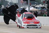 Apr. 28, 2013; Baytown, TX, USA: NHRA funny car driver Bob Tasca III during the Spring Nationals at Royal Purple Raceway. Mandatory Credit: Mark J. Rebilas-