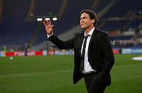 Calcio, Champions League: Gruppo E - Roma vs Bate Borisov. Roma, stadio Olimpico, 9 dicembre 2015.<br /> Roma's coach Rudi Garcia gestures prior to the start of the Champions League Group E football match between Roma and Bate Borisov at Rome's Olympic stadium, 9 December 2015.<br /> UPDATE IMAGES PRESS/Isabella Bonotto