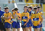Dissapointed Clare lads following their Munster Minor football final loss to Kerry at Pairc Ui Chaoimh. Photograph by John Kelly.