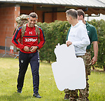 Pedro Caixinha, James Tavernier and Connal Cochrane promote the Rangers Charity Foundation's Great Glen armed forces challenge