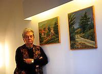 Galleria 291 est, nello storico quartiere di San Lorenzo, Roma..Gallery 291 East, in the historical district of San Lorenzo, Rome..Simonetta Vitullo.Pittrice.Painter.