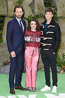 """Tom Hiddlestone, Maisie Williams and Eddie Redmayne<br /> arriving for the """"Early Man"""" world premiere at the IMAX, South Bank, London<br /> <br /> <br /> ©Ash Knotek  D3369  14/01/2018"""