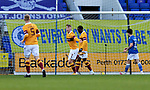 St Johnstone v Motherwell…21.11.20   McDiarmid Park      SPFL<br />Mark O'Hara celebrates his goal<br />Picture by Graeme Hart.<br />Copyright Perthshire Picture Agency<br />Tel: 01738 623350  Mobile: 07990 594431